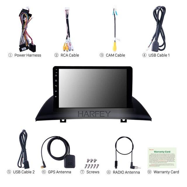 Harfey Android 9.0 9 cal nawigacja samochodowa GPS radioodtwarzacz odtwarzacz dla 2004 2005 2007-2012 BMW X3 E83 2.0i 2.5i 2.5si 3.0i 3.0si 2.0d 3.0d