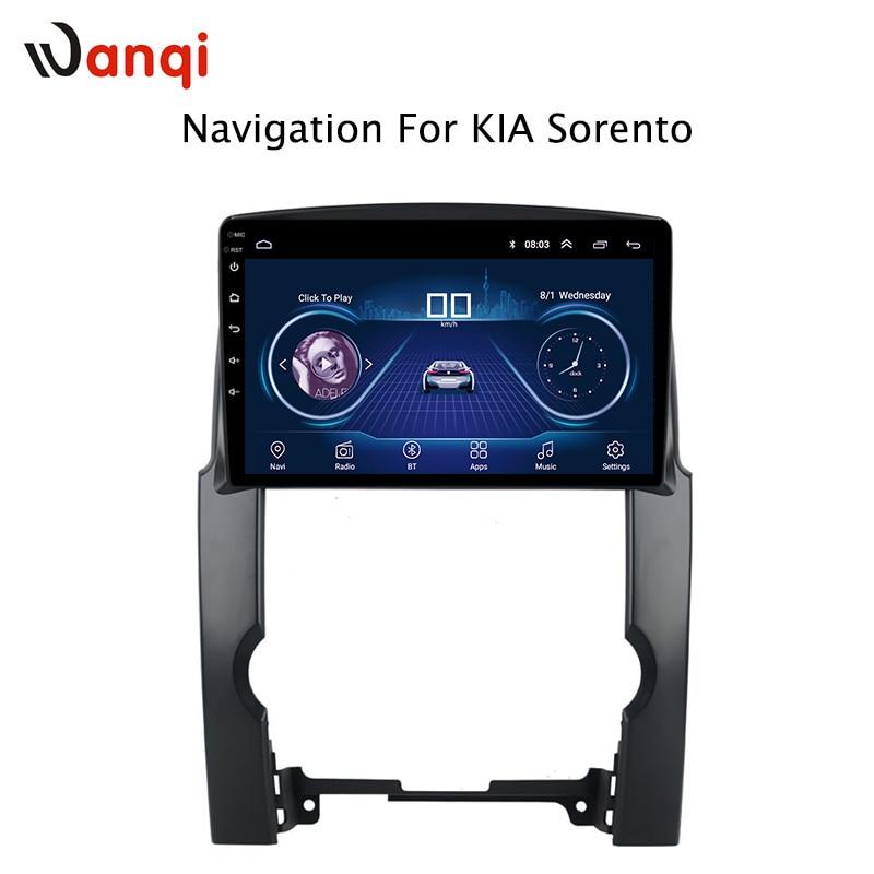 10.1 Pouces HD LED Plein Écran Tactile Android 8.1 GPS Système de Navigation pour Kia Sorento 2007-2012 Stéréo avec bluetooth