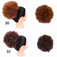 Afro Kinky Curly Hair Bun Chignon Synthetic Drawstring High Puff Ponytail Extension Wig(China)