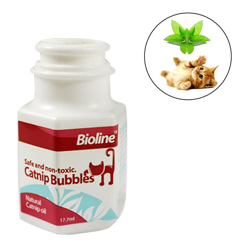 Cat Toy Mint Bubble Interactive Training Entertainment Funny Blowing Anti-stress Relief Emotion 17.7ML
