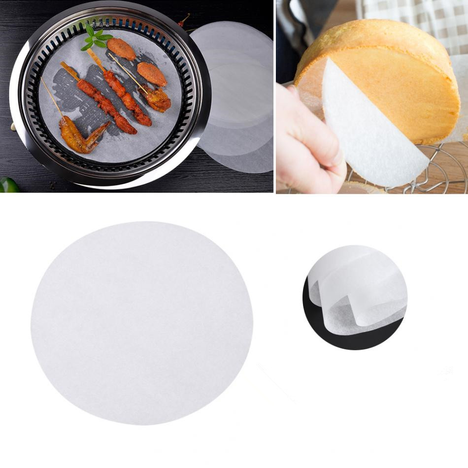 100Pcs Non-Stick Round Oven Baking Papers Oil-absorption Roasted BBQ Barbecue Mat Pastry Baking Tools For Cakes 6/8/10 Inch