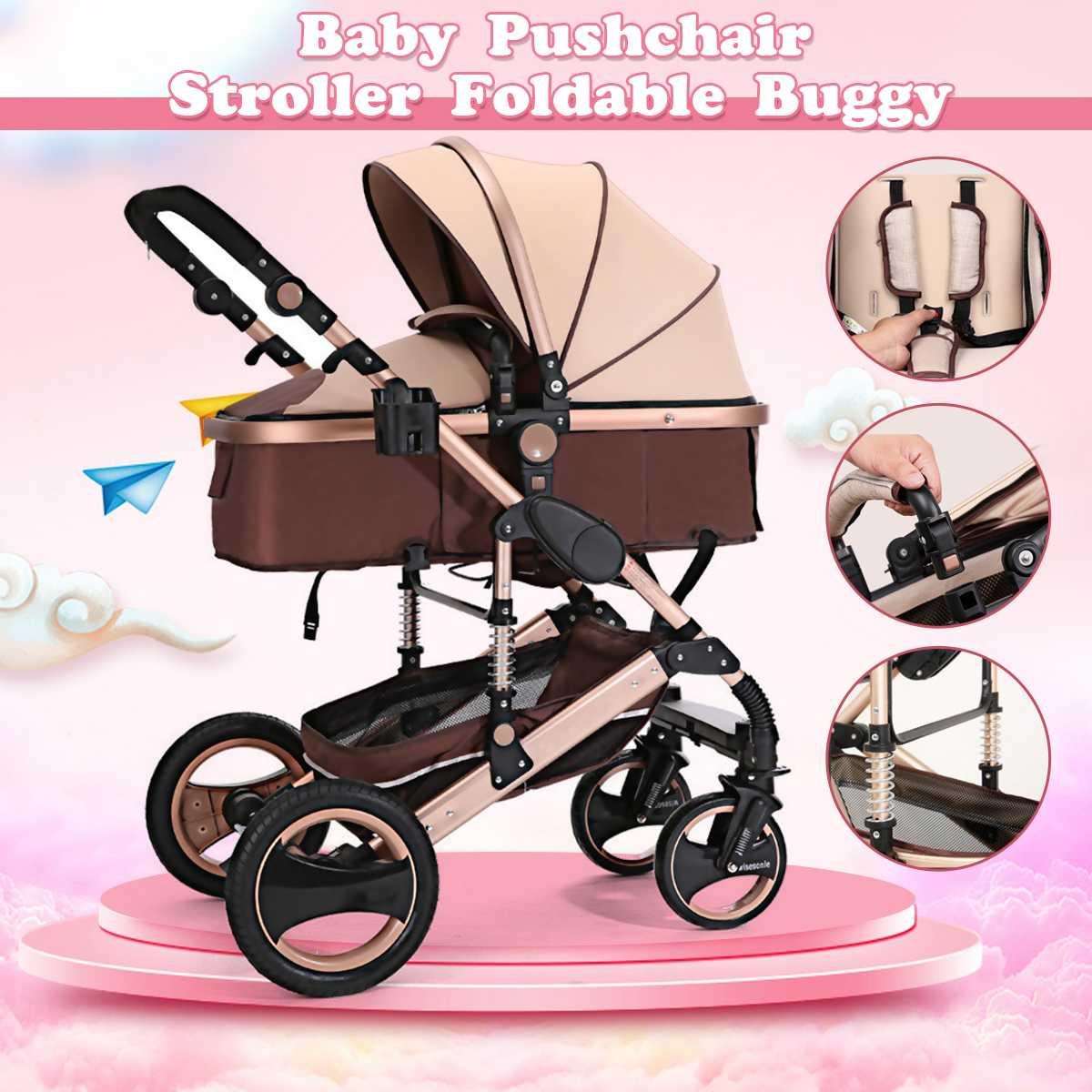 Poussette bébé 8 en 1 quatre roues poussette couché poids léger enfant quatre saisons poussette landau voyage landau poussette