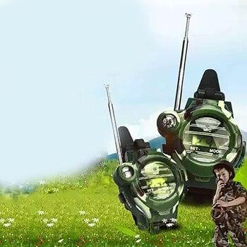 Camouflage Hot Way Radio Walkie Talkie Kids Child Spy Wrist Watch Gadget Toys Outdoor Interphone Toy Gift For Chirlden 5