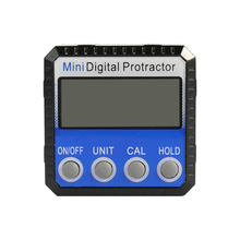 Mini Zinc Alloy Shell Digital Display Protractor Inclinometer 0.1degree Resolution Bottom with Magnet