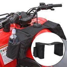 55e46877ba4e0 ATV Eyer Çantası Atçılık Geri Paketi Panniers Çanta Polaris Için Kir  Bisiklet Kayak doo Siyah