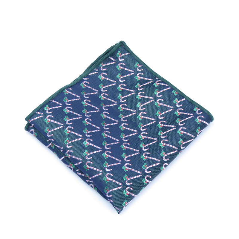 Mantieqingway Christmas Snowflake Printed Handkerchief For Mens Suit Pocket Square Wedding Party Hankies For Men Brand Square