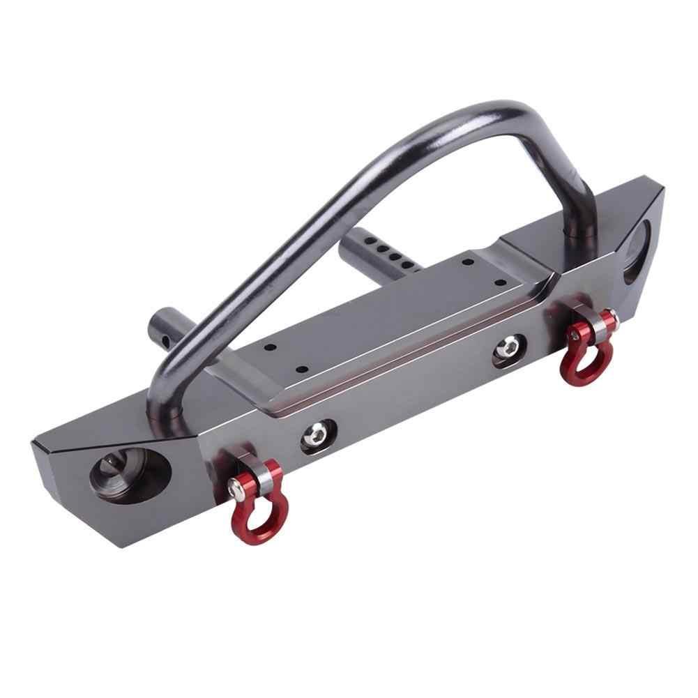 Алюминиевая машина из сплава RC передний бампер для осевой SCX10 Jeep Wrangler 1/10 дистанционного Управление на гусеничном ходу на станке с ЧПУ части модели RC