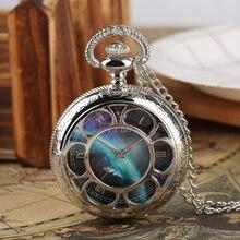 Мужские кварцевые карманные часы креативные на цепочке с рисунком