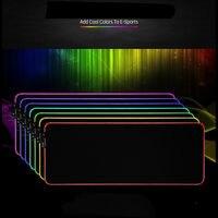 RGB цветное светодиодное освещение коврик для мыши игровой коврик для мыши для ПК ноутбука маленький/большой