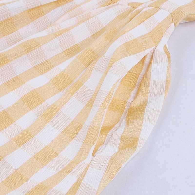Sjuly летнее платье в стиле ретро женское винтажное платье трапециевидной формы 50 s клетчатая полосатая школьная Повседневная Милая желтая элегантная одежда без рукавов