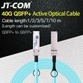 40G QSFP + к QSFP + AOC волоконный кабель 1 м 2 м 3 м 5 м 7 м 10 м MPO SFP модуль OM3 OM4 активный оптический кабель Поддержка пользовательской длины