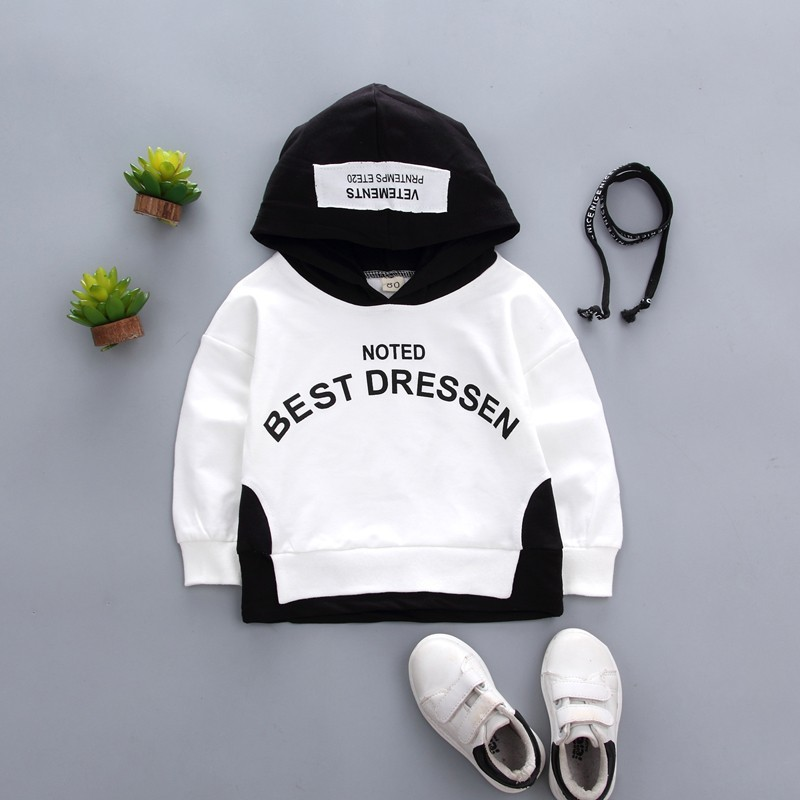 2019New Arrival Clothing For Baby Girls Boys Coat Letter Printed Hooded Jacket Spring Autumn Kids Outerwear Children Clothes in Jackets Coats from Mother Kids