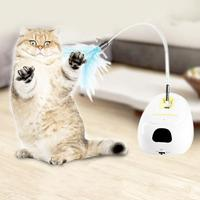 Cat Electric Rotating Induction Stick for Funny Dog Cat Toys Interactive Training Bird Pet Seat Scratch Toy