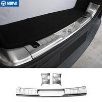 MOPAI Car Interior Rear Trunk Bumper Guard Plate Wrap Angle Door Sill Plate Scuff Protect for Jeep Cherokee 2014+ Accessories