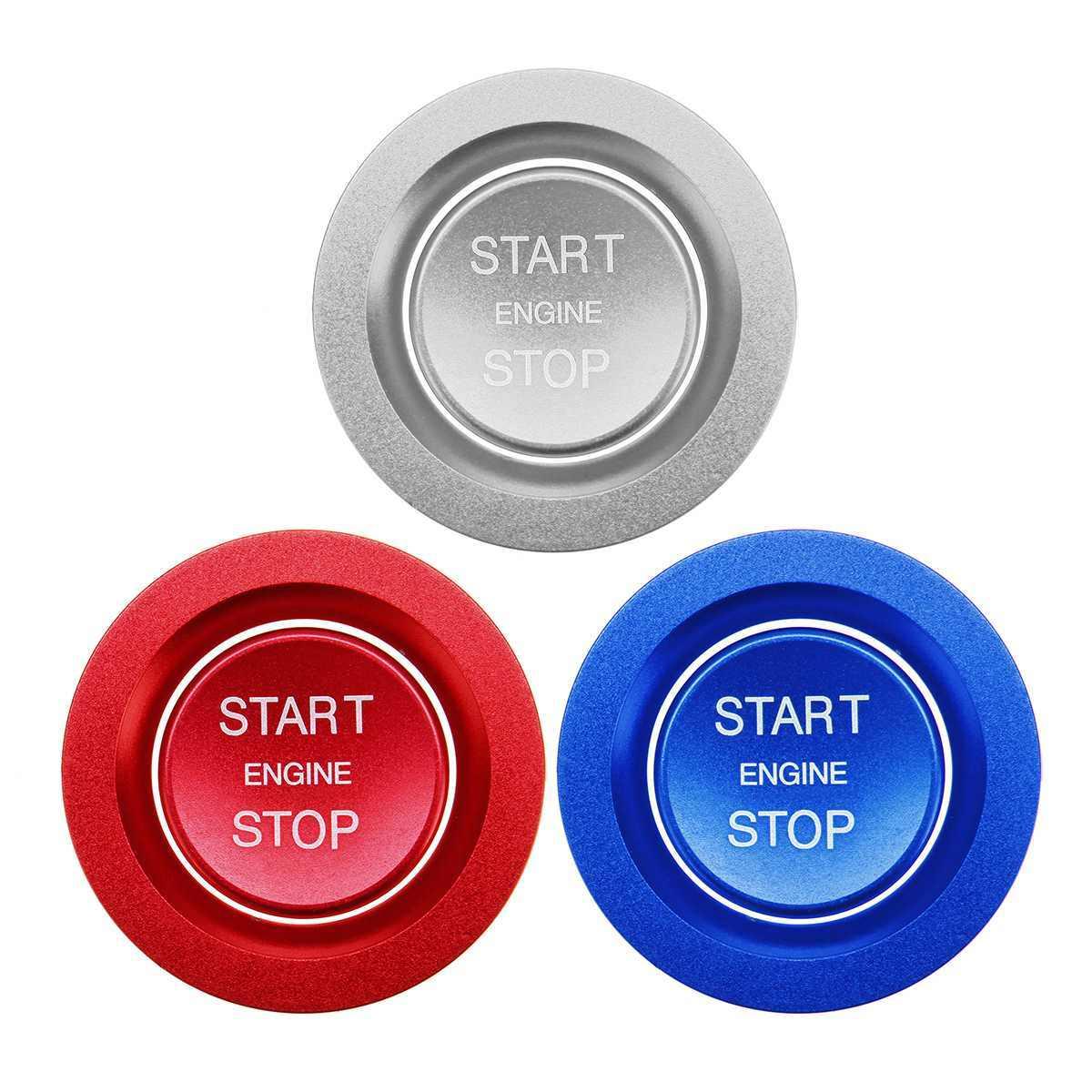 ل اند روفر ديسكفري الرياضة إيفوك السيارات محرك ابدأ زر التوقف نظام التصميم غطاء السيارة ملصقات حافظة الخاتم اكسسوارات