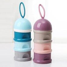 Portable Newborn Baby Food Storage Box Feeding Milk Powder Boxes Toddle Kids Formula Milk Container 3 Cells Grid Practical Box