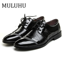 MULUHU Fashion Man Leather Shoes Male Lace Up Office Wedding