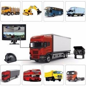 "Image 5 - OHANEE 7 ""TFT LCD araba monitör ekran DC 12 V 24 V ve 4 Pin IR gece görüş dikiz kamera otobüs kamyon RV karavan römorkları"