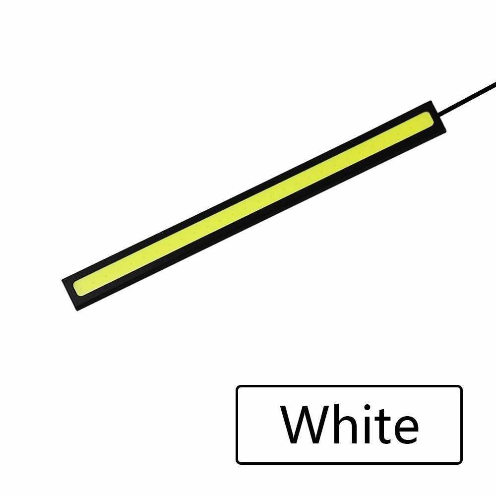 1 ピース 17 センチメートルユニバーサルデイタイムランニングライト cob drl led 車ランプ外部ライト自動防水カースタイリング led drl ランプ