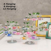 White Crystal Glass Ornaments Feng Shui Decorating Transparent Chirstmas Miniature Figurine Tree Hanging Figurines Crafts Gifts
