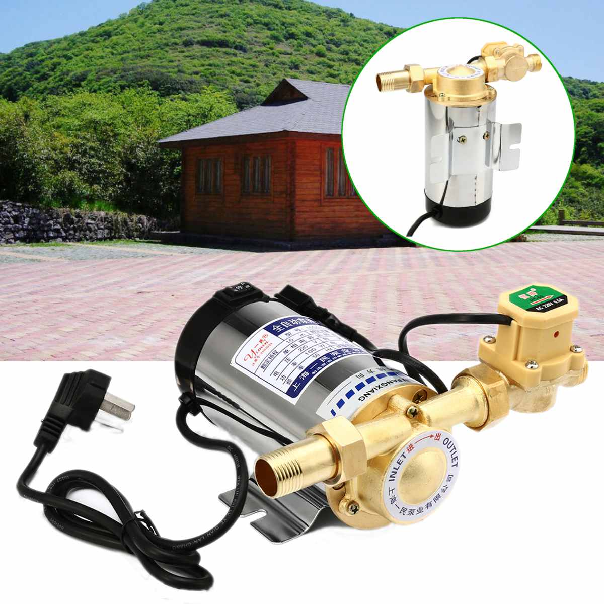 100W/150W Pipeline Pump Automatic Circulating Water Booster Pump 220V/50HZ Electric Pressure Pump Boosting Pump For Water Heater