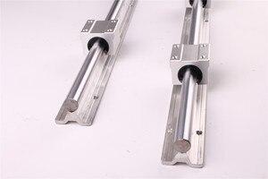 Image 5 - RU CN חינם 2Pcs SBR16 300 SBR16 400 SBR16 500 SBR16 1000 Mm רכבת ליניארי באופן מלא נתמך פיר מוט עם 4x SBR16UU בלוק
