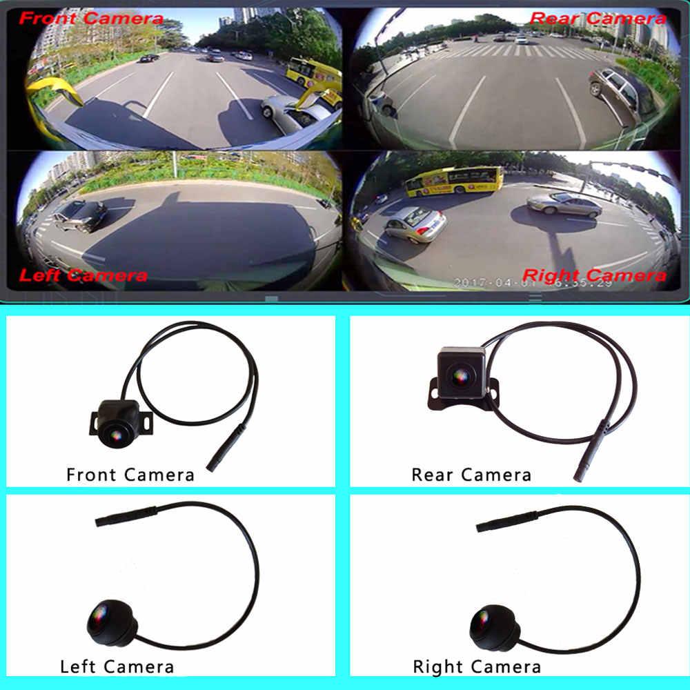 Podofo 3D 360 градусов HD панорамный обзор система мониторинга с видом птицы панорама 4 Автомобильная камера 1080 P DVR рекордер g-сенсор