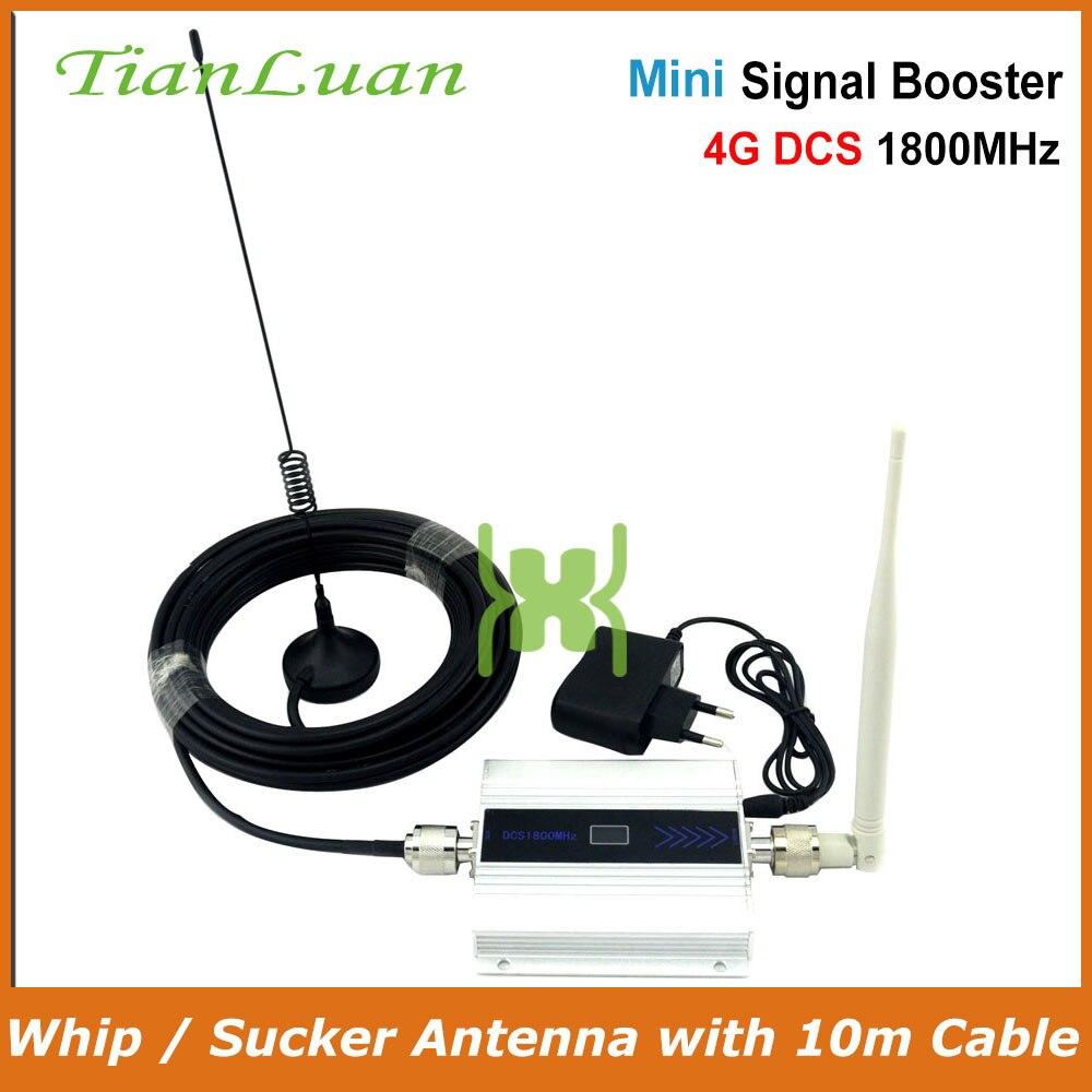 TianLuan 2G DCS 1800 MHz móvil de señal de teléfono 4G 1800 MHz repetidor de señal de teléfono celular amplificador con whip/idiota antena