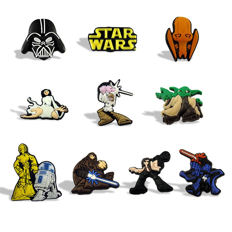 8pcs/lot Star Wars Cartoon Fridge Magnets Children Magnetic Stickers Pvc Blackboard Magnets Kids Toys Birthday Gift