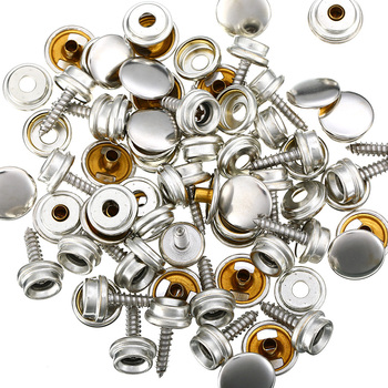 75pcs/Set New Snap Fastener Stainless Canvas Cap Screw Kit High Quality Accessory Parts Suitable For Tent Boat Marine