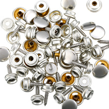 75pcs/Set New Snap Fastener Stainless Canvas Caps Screw Kit High Quality Accessory Parts Suitable For Tent Boat Marine