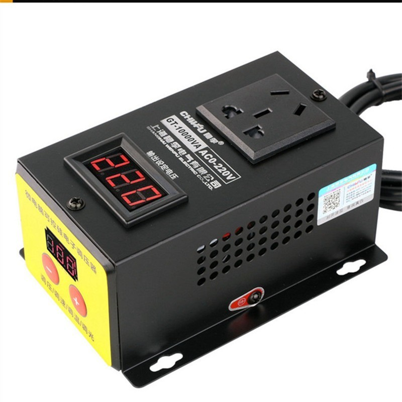 Image 2 - 10000w High power Controller Electronics Voltage Organ Electric Machinery Fans Electric Drill Variable speed controller AC 220V-in Motor Controller from Home Improvement