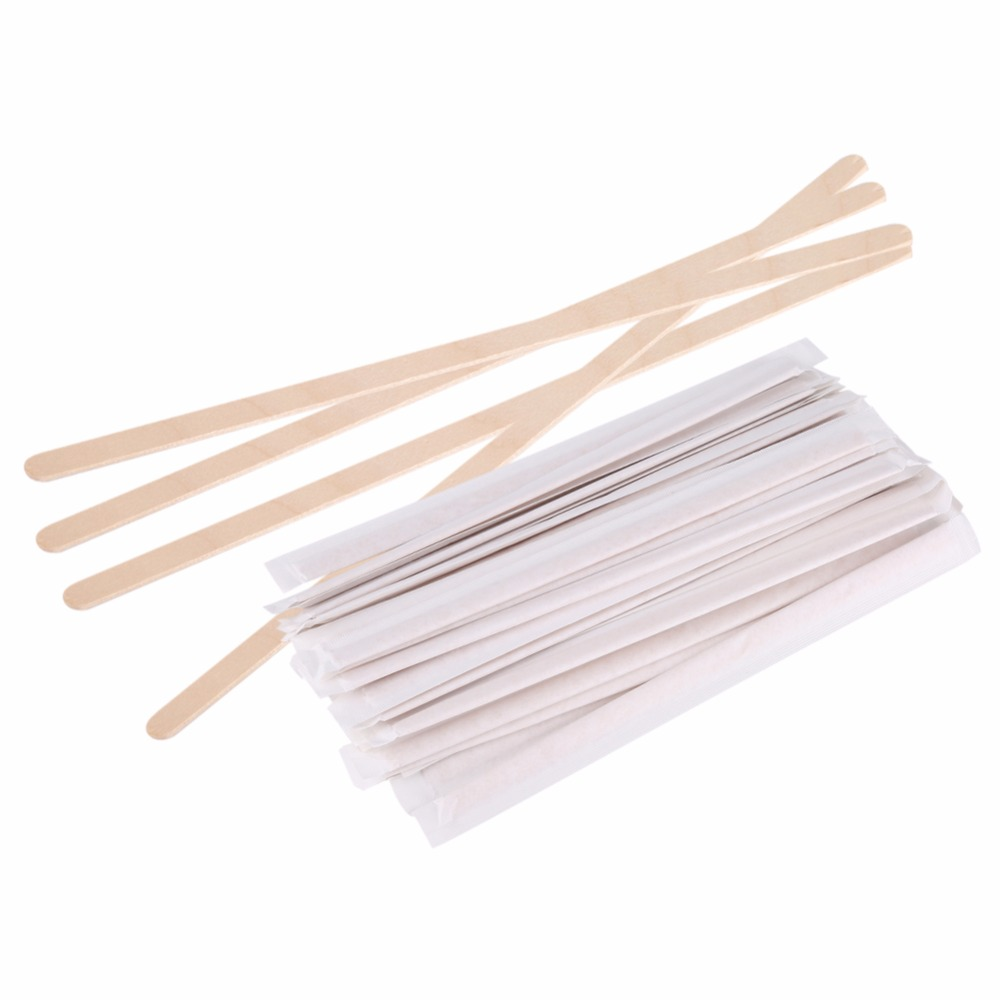 500Pcs/Set Wooden Popsicle Stick Art Ice Cream Lolly Cake DIY Making Funny Ice Cream Stick Coffee Beverage Stirrers