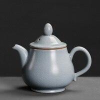 Originality pottery single tea pot old style household Chinese style nostalgic porcelain teapot maker kettle