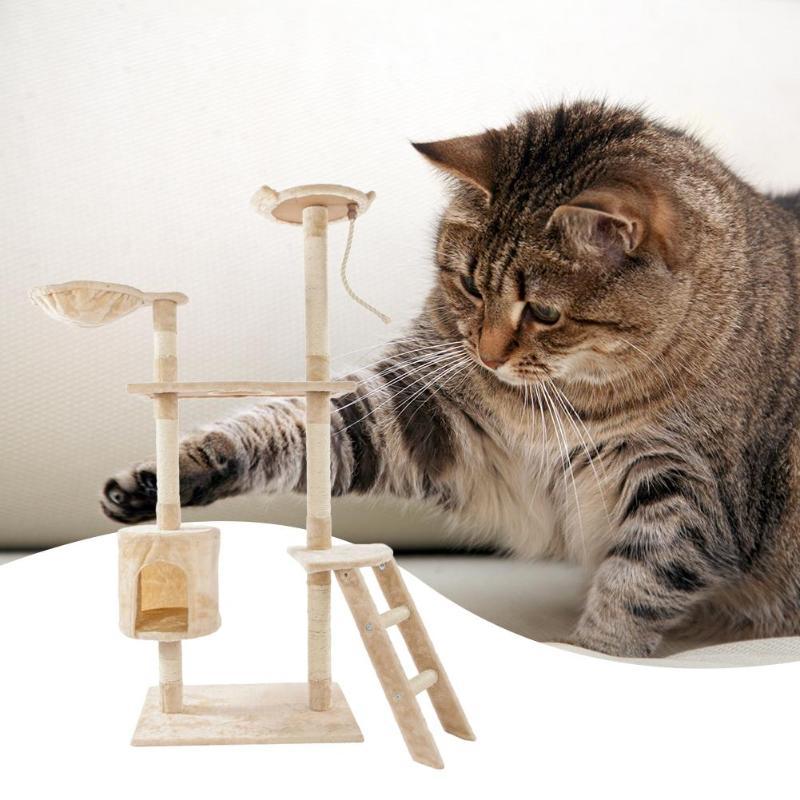 Sisal naturel corde chat escalade arbre jouet chats chaton sautant debout cadre Post meubles chat jouets fournitures pour animaux de compagnie