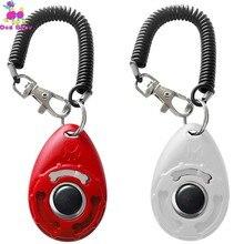 1 шт., тренировочный кликер для кошек и собак, пластмассовый клик для дрессировки собак, регулируемый ремешок на запястье, звуковая клавиша, 4 цвета