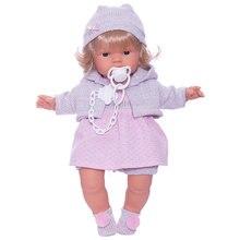Кукла Llorens Лола в розово-сером 38 см, со звуком