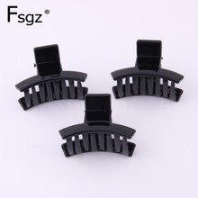 3 PIECES New Arrival Hairpins For Women ABS Plastic Hair Claw Solid Black Fringe Clips Simple Casual Clamp Accessories