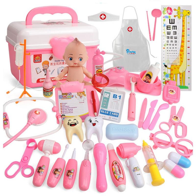 Pretend Play Toys Role Doctor 21 Sets Of Play House Toys Children Doctor Toy Set Simulation Medical Tool Kit New Hot Cosplay