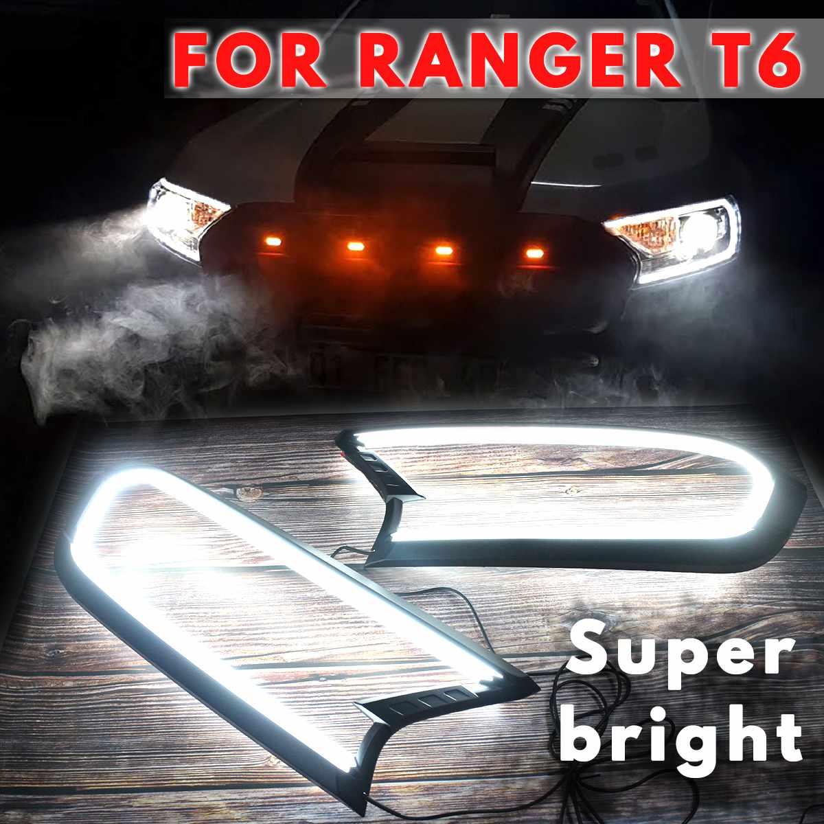 2019 חדש עדכון עיצוב שחור פנס LED כיסוי לקצץ ABS מנורת הוד עבור פורד עבור ריינג 'ר T6 WILDTRAK 2015 2016 2017 2018