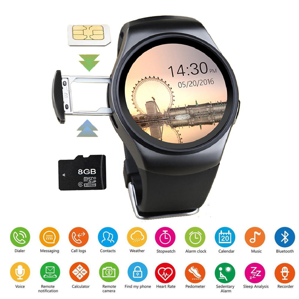 Smart Fitness Watch Men Women Pedometer Heart Rate Monitor Pressure Sports Touch Waterproof Watch Support TF& SIM Card