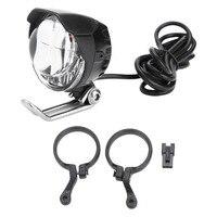 Radfahren 2 In 1 Horn Licht Fahrrad Horn LED Kopf Licht MTB Bike Vorne Helle Lampe Spot Licht & Horn für E-Bike Roller Aluminium