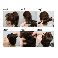 Hot Sale Rambut Twist Styling Klip Stick Bun Pembuat Mudah Alat Bantu Kepang  untuk Wanita Gadis 12ec5ce03c