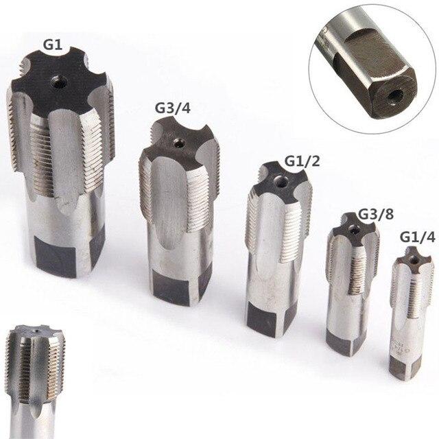 G1/8 1/4 3/8 1/2 3/4 1 NPT 1 HSS Taper Canna di Rubinetto A Vite In Metallo Filo Utensile Da Taglio