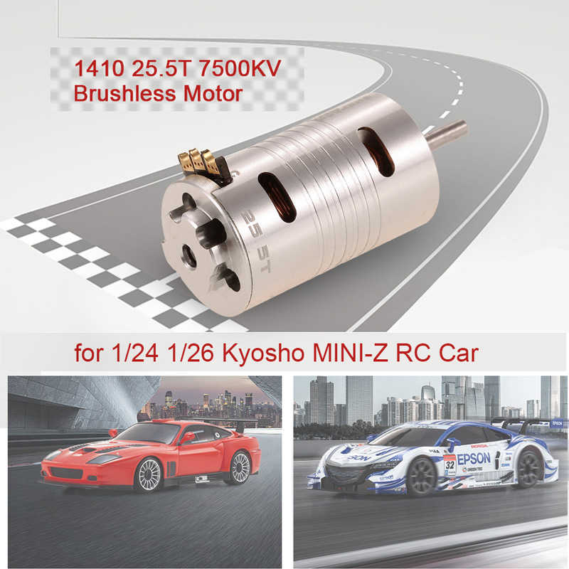 Nuevo superar HOBBY 1410 de 25,5 T de 7500KV Motor sin escobillas para 1/24 de 1/26 Kyosho MINI-Z RC Coche
