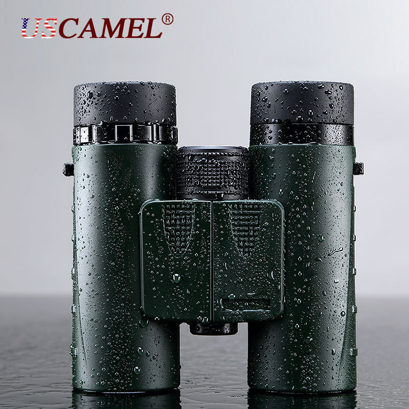 Compact Military HD Binoculars 8x32 Optics Telescope Zoom Powerful Army Green For Hunting Fully Multi Coated