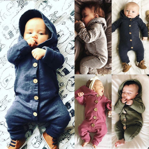 Casual Fashion Baby Kids Boy Girl Infant Hoodie   Romper   Long sleeve Jumpsuit Cotton soft pajamas kids baby clothes winter autumn