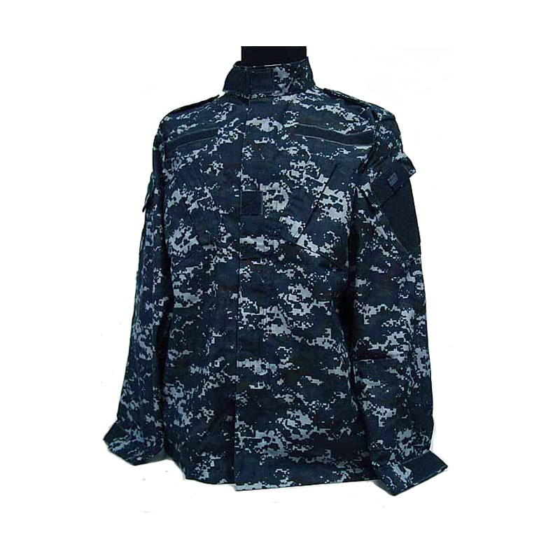 AS Kamuflase Seragam seragam militer navy Digital Navy Biru ACU Gaya Seragam Set Digital Biru