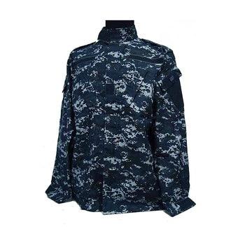 US Camouflage Uniform navy military uniform Navy Digital Blue ACU Style Uniform Set Digital Navy Blue Camo