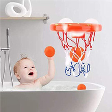 Kids Funny Bath Toys Plastic Bathtub Shooting Game Toy Set Basketball Suctions Cups Mini With Hoop Balls Children toys for children mini basketball shooting board game learning education math toys marble game plastic sensory toys